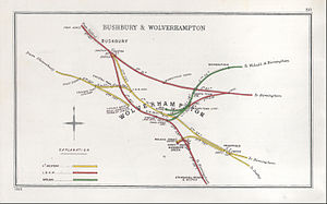 Early railways around Wolverhampton (Wikimedia Commons)